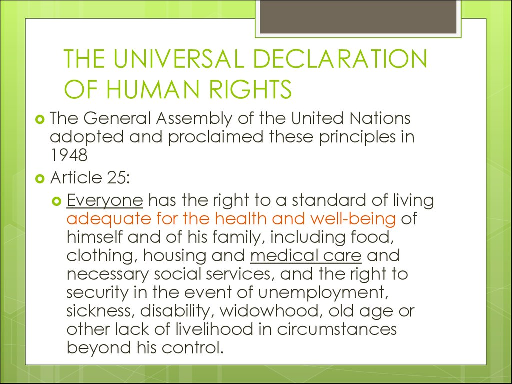 an overview of the universal declaration of human rights adopted by the united nations in 1948 11 united nations protection of human rights  of the 1948 universal declaration of human rights  declaration of human rights (udhr) was adopted early.