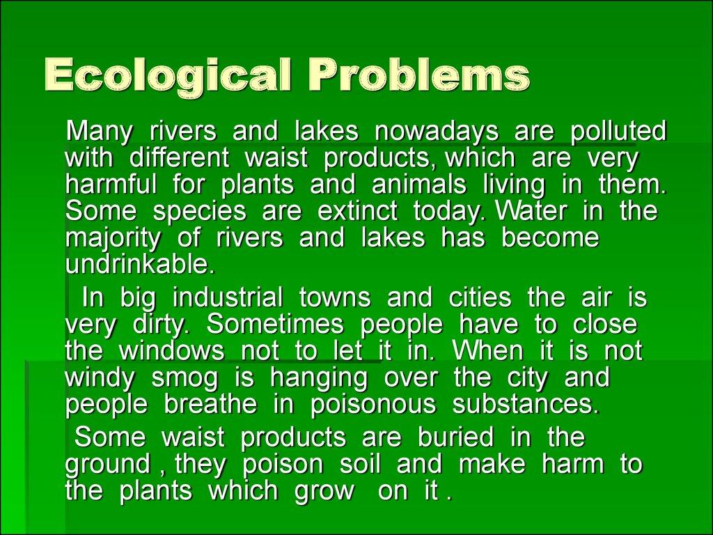 Ecological problems - презентация онлайн