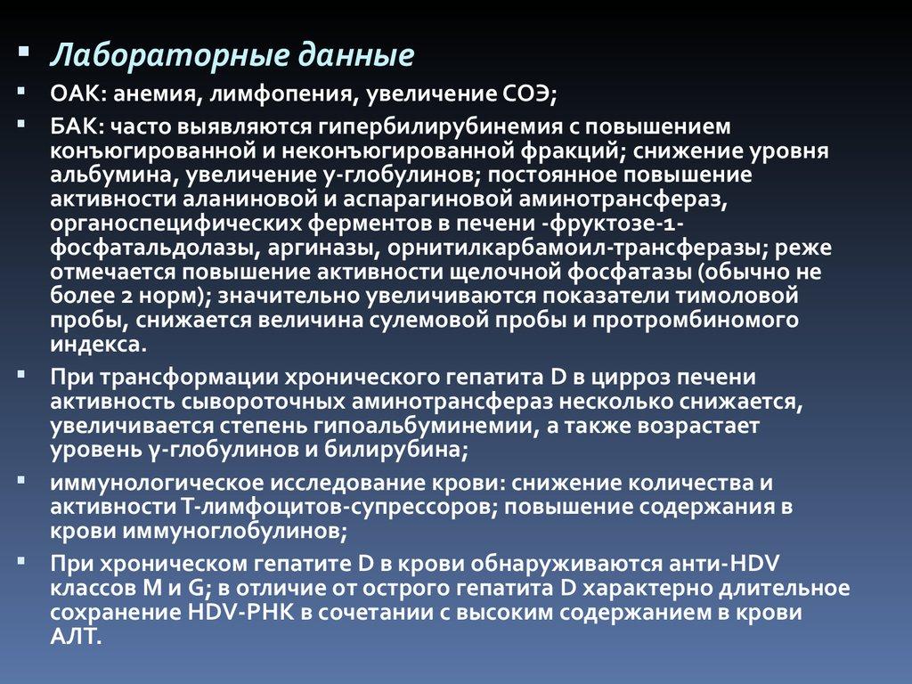 Основные клинические синдромы при циррозе печени