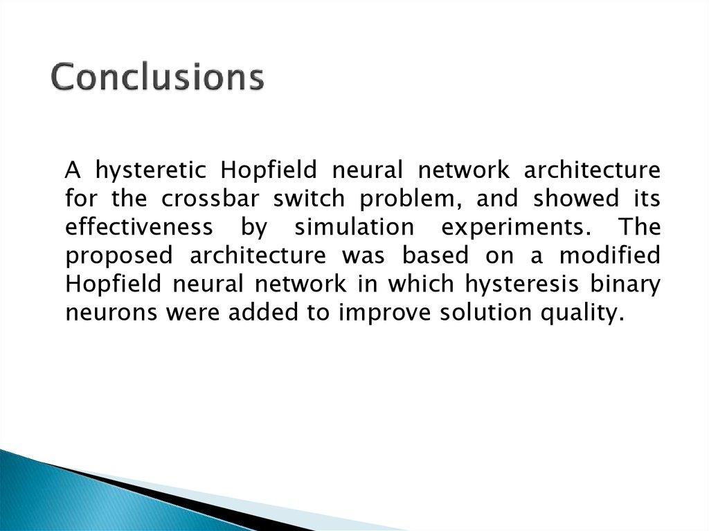 Hopfield network neural thesis