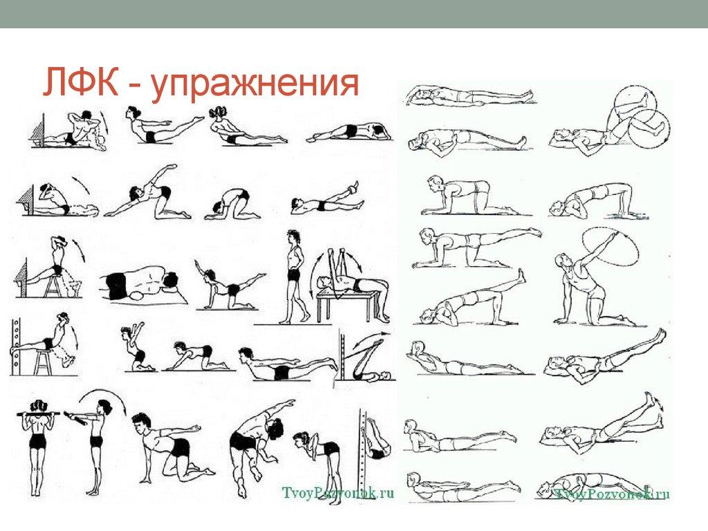 Упражнения лечебной гимнастики