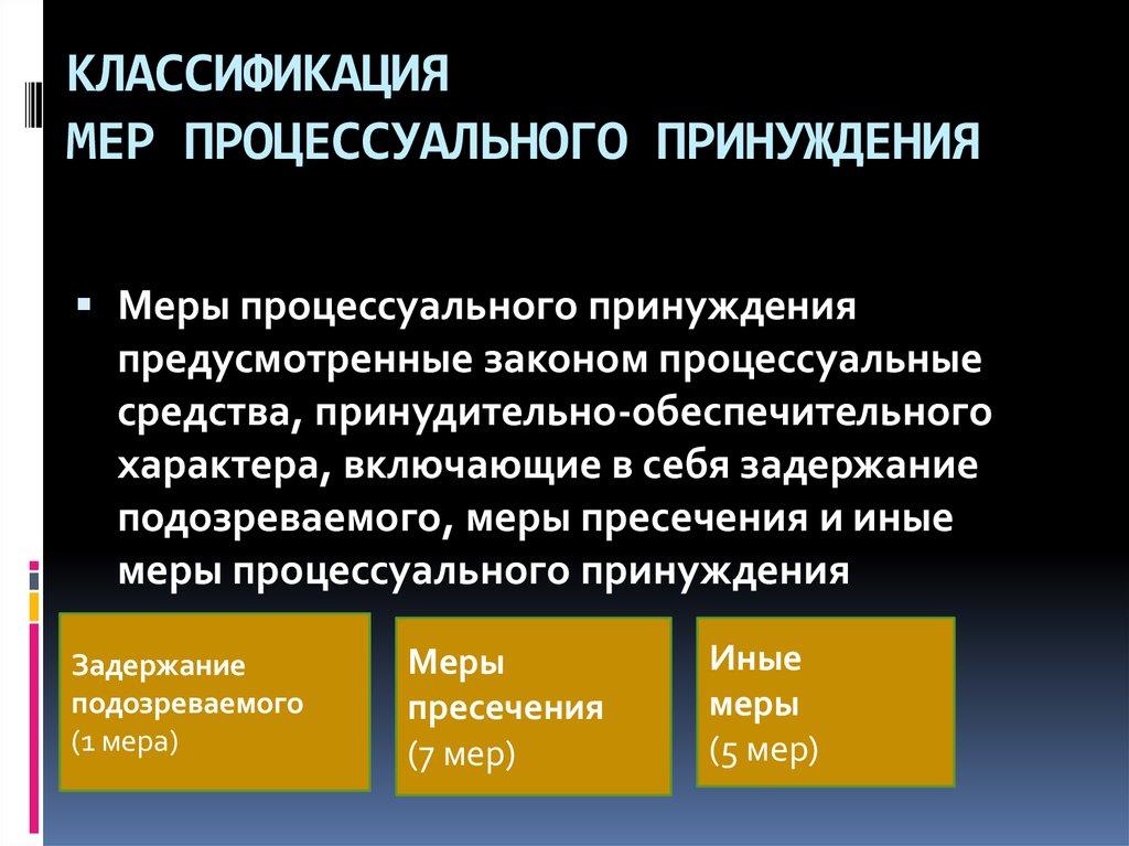 Меры уголовно-процессуального принуждения (по главе 14 упк россии)