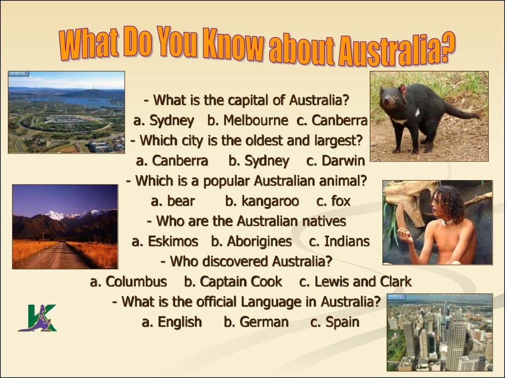 презентация australia на английском