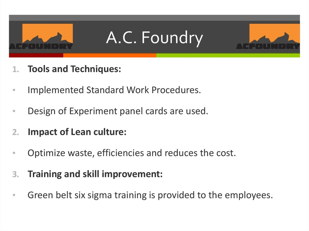 A.C. Foundry