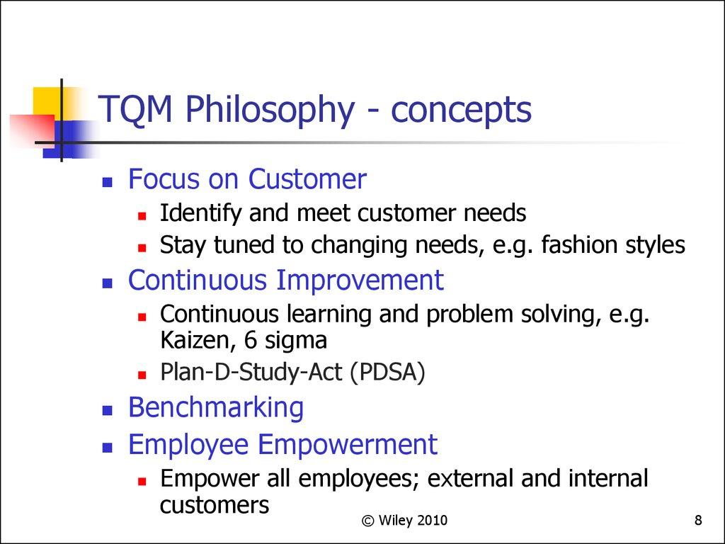Total Quality Management Chapter 4 презентация онлайн