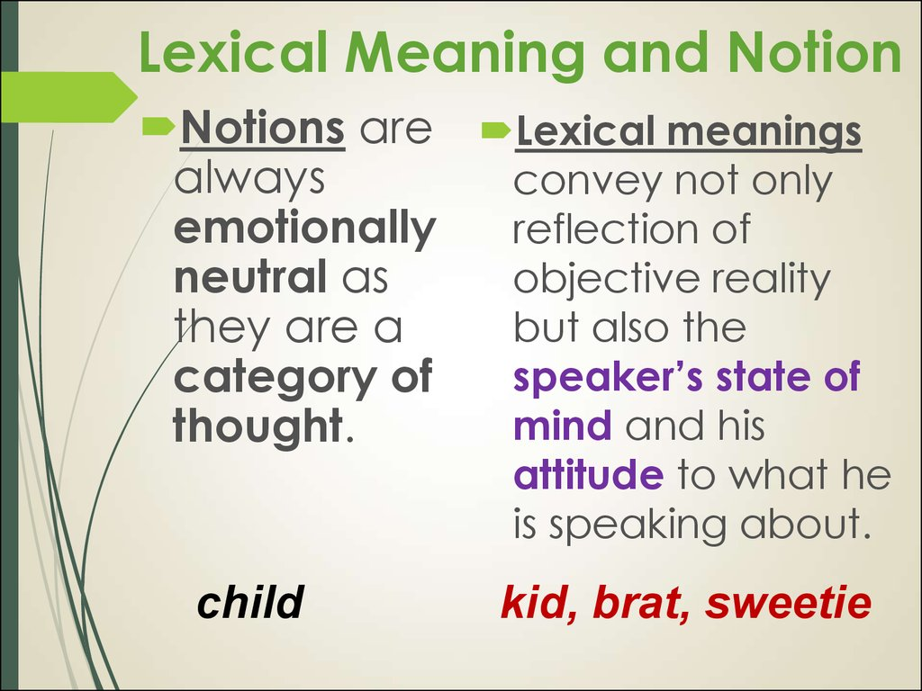 Lexical Meaning and Notion