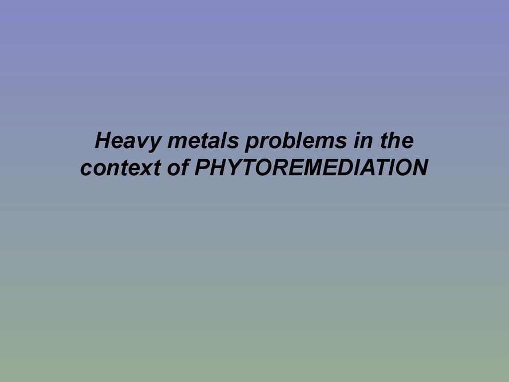 phytoremediation of heavy metals pdf