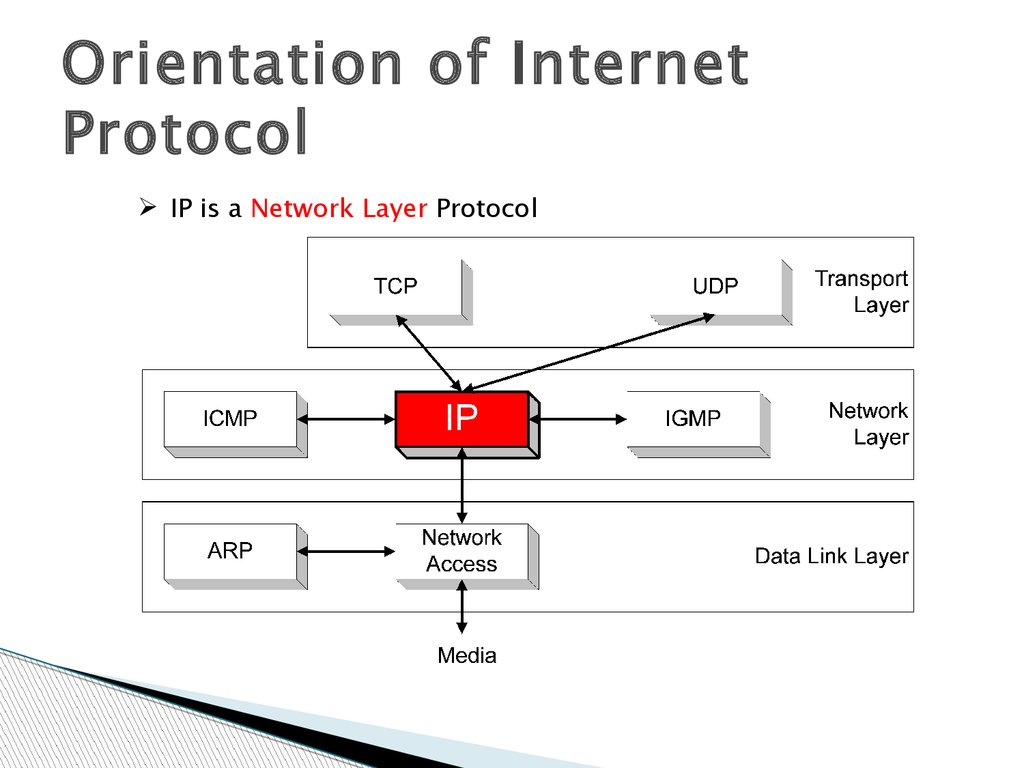 internet protocol As mentioned in the internet section the internet is an abstraction from the underlying network technologies and physical address resolution this section introduces the basic components of.