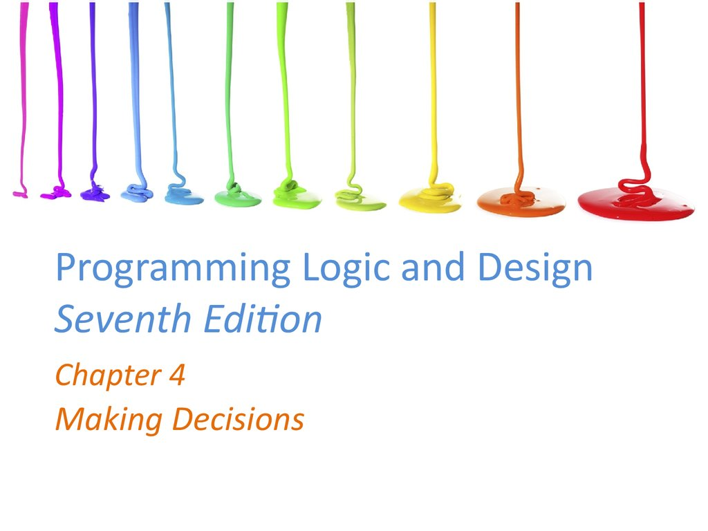 programming and logic The importance of program logic march 14, 2014 cynthia berning a sample program logic developing a clear and well-defined program logic—the chain of events by.