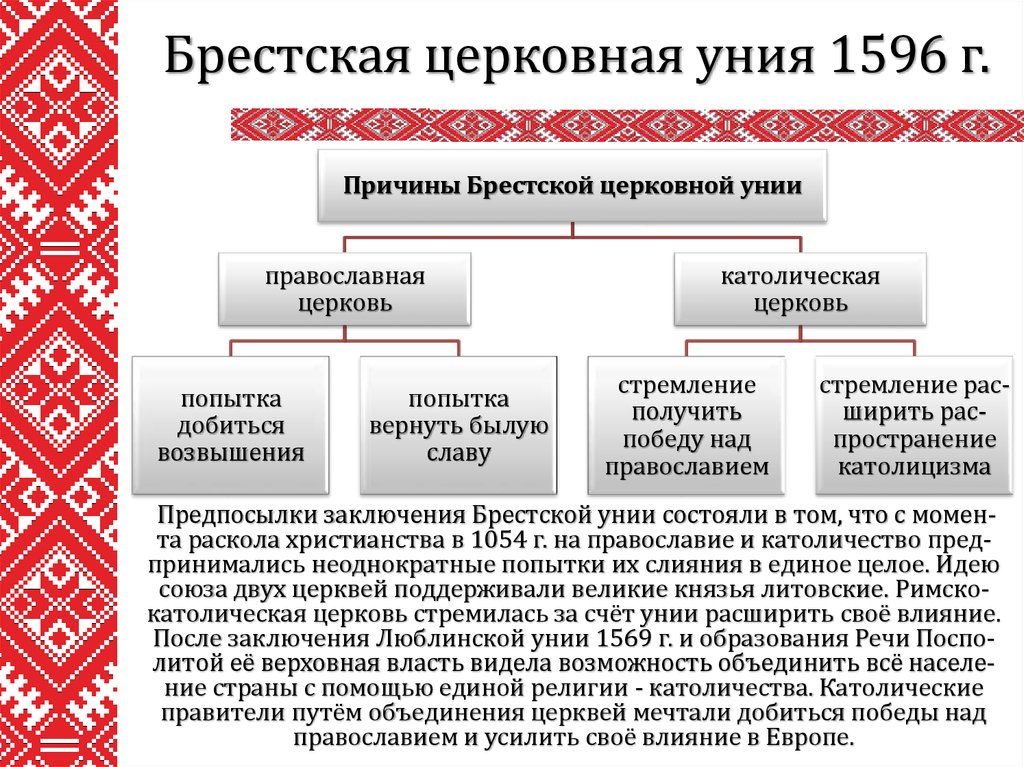 Уния (лат - единение) - объединение, союз госу-дарств под властью одного мон
