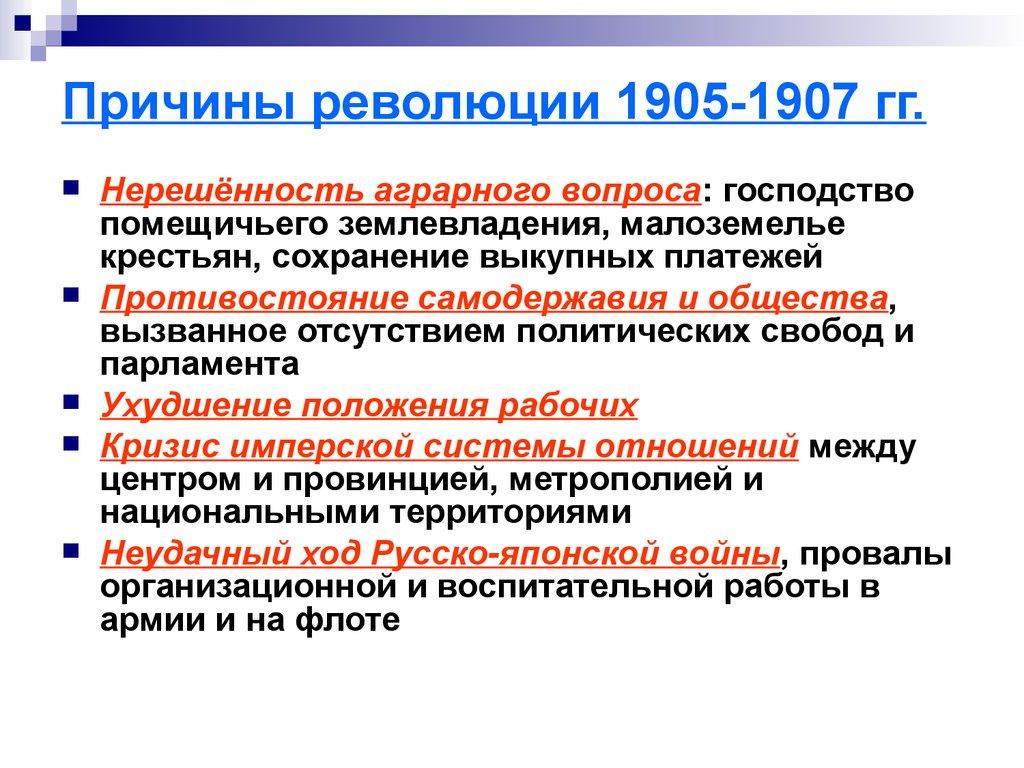Первая русская революция 19051907 гг