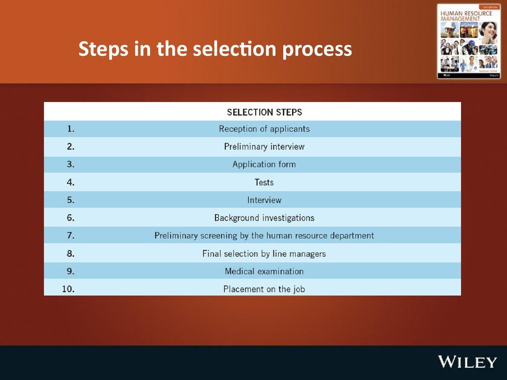 employee selection   chapter 7