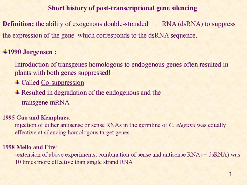post transcriptional gene silencing pdf