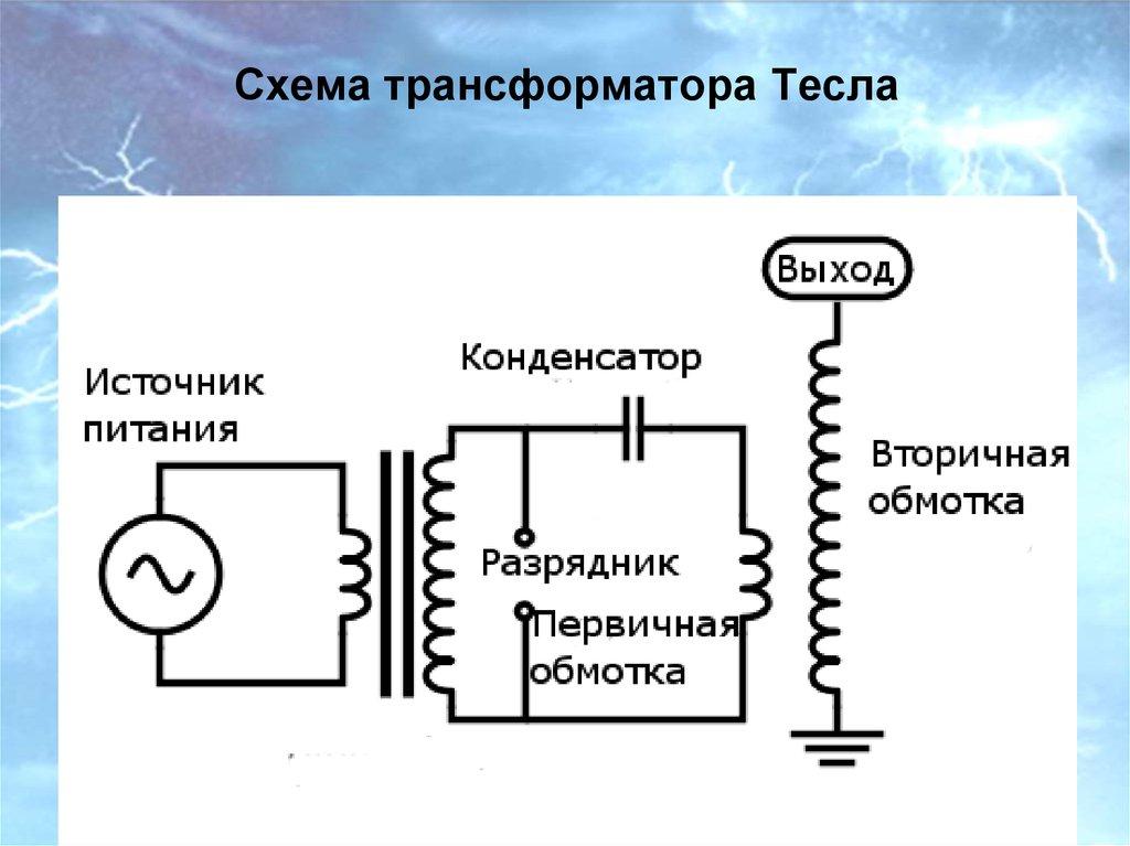 Схемы трансформаторов теслы своими руками 263