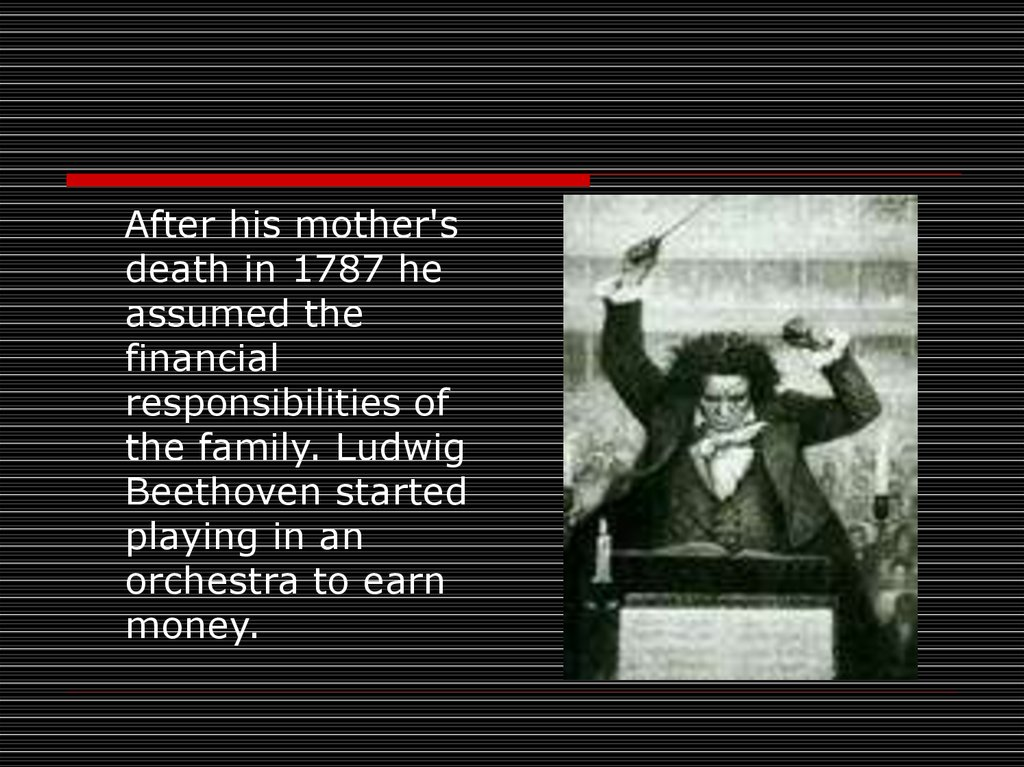 the political and musical career of ludwig van beethoven Ludwig van beethoven fantasia for piano,  countesses and archdukes who funded his career were his music pupils and very often his friends a bumpy life.