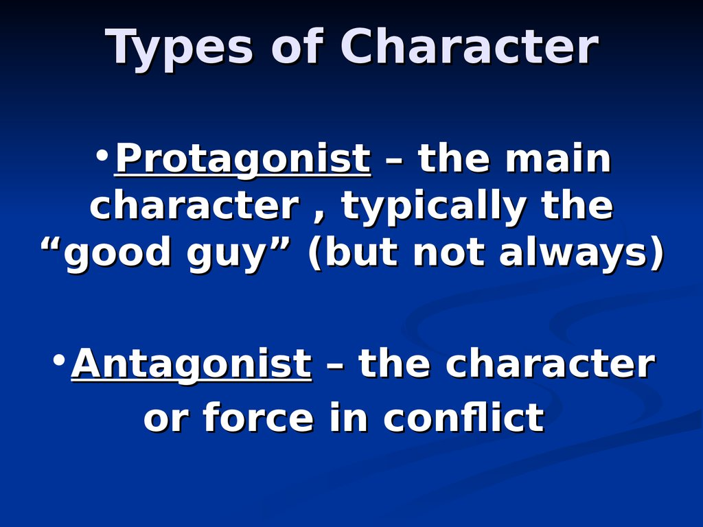 Types of Character