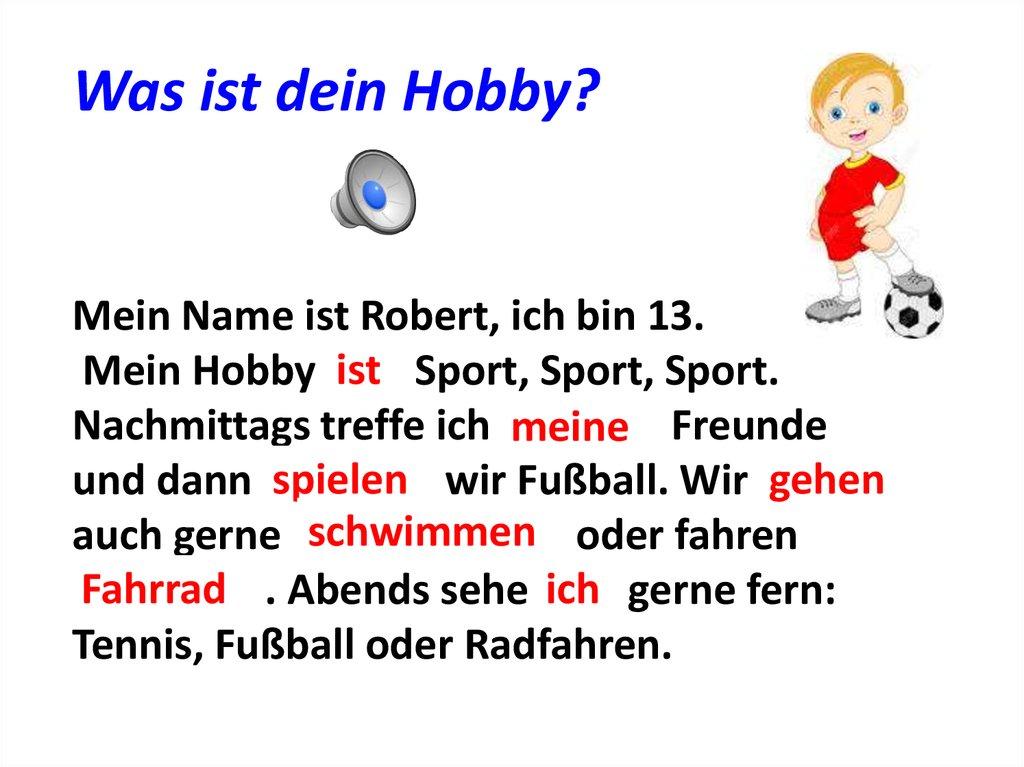 Hobbys - online presentation