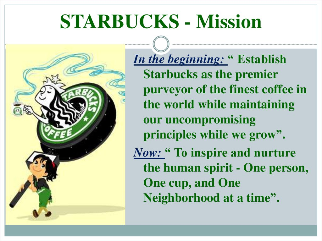 Starbucks Mission, Vision and Values analysis