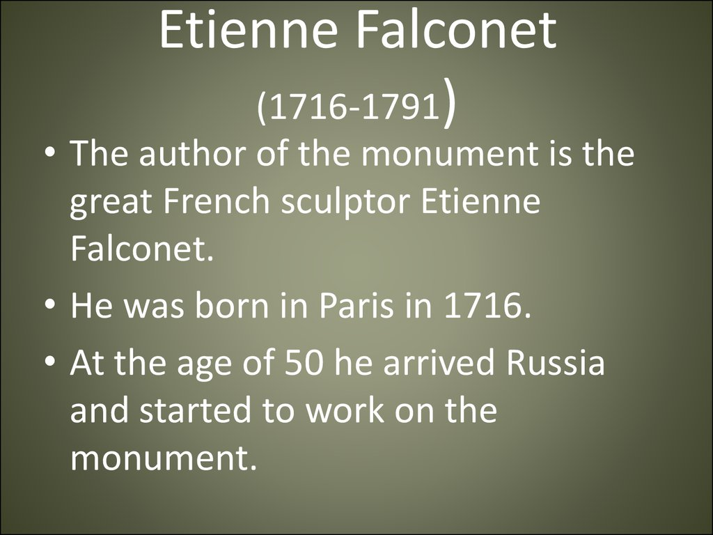 Etienne Falconet (1716-1791)