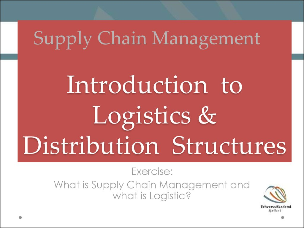 introduction to logistics and supply chain Definition of supply chain management, difference between logistics and scm, green supply chain, courses & jobs in india and abroadand more.