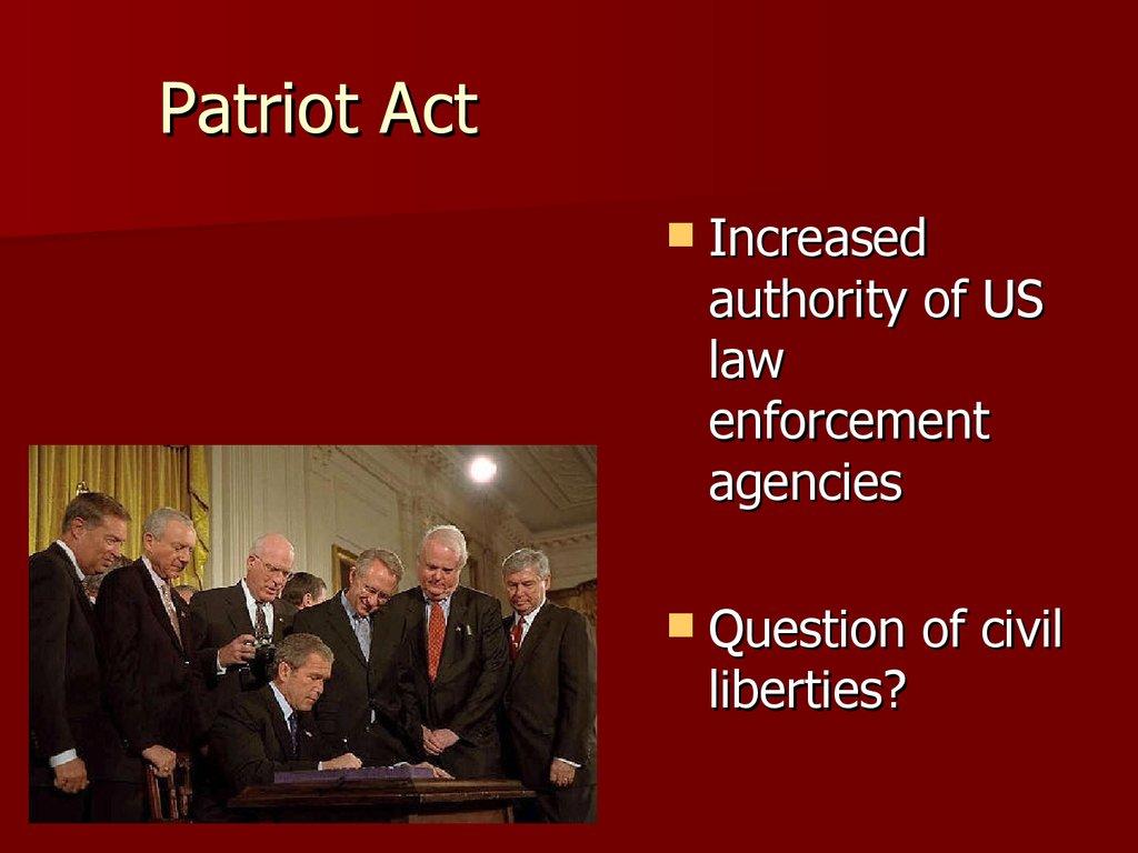 the patriot act vs civil liberties essay