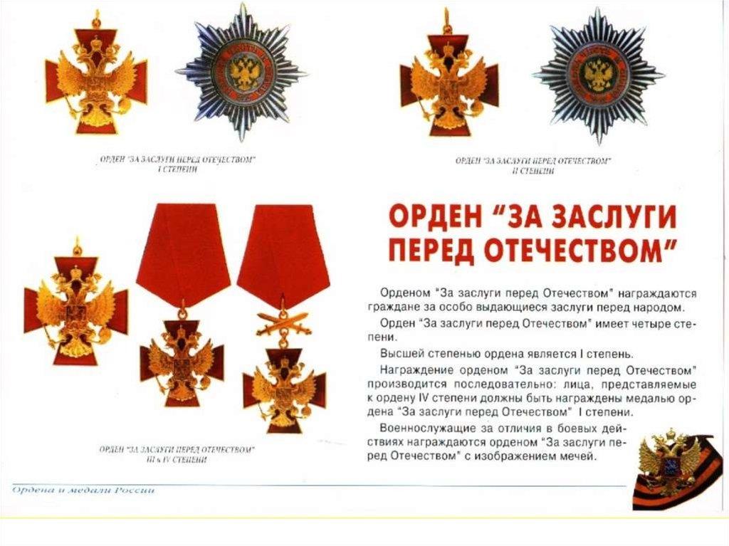 Медали и ордена россии военные с описанием