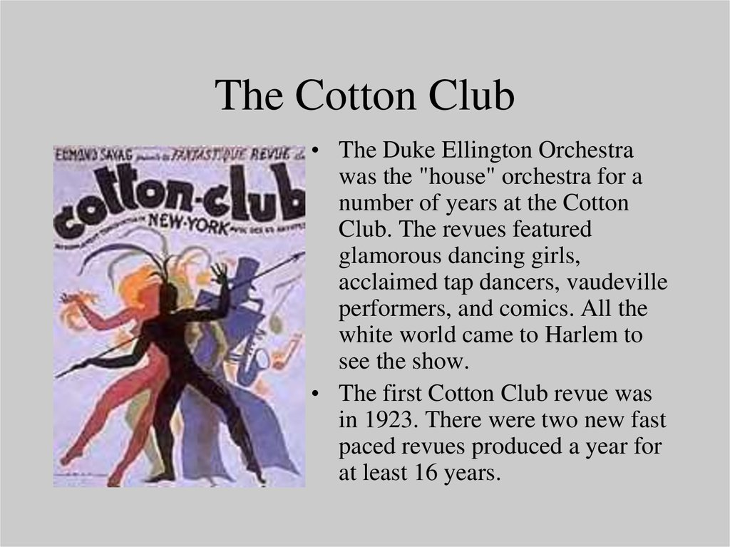 an introduction to the harlem renaissance the cotton club