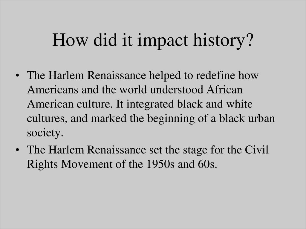 why was the harlem renaissance important