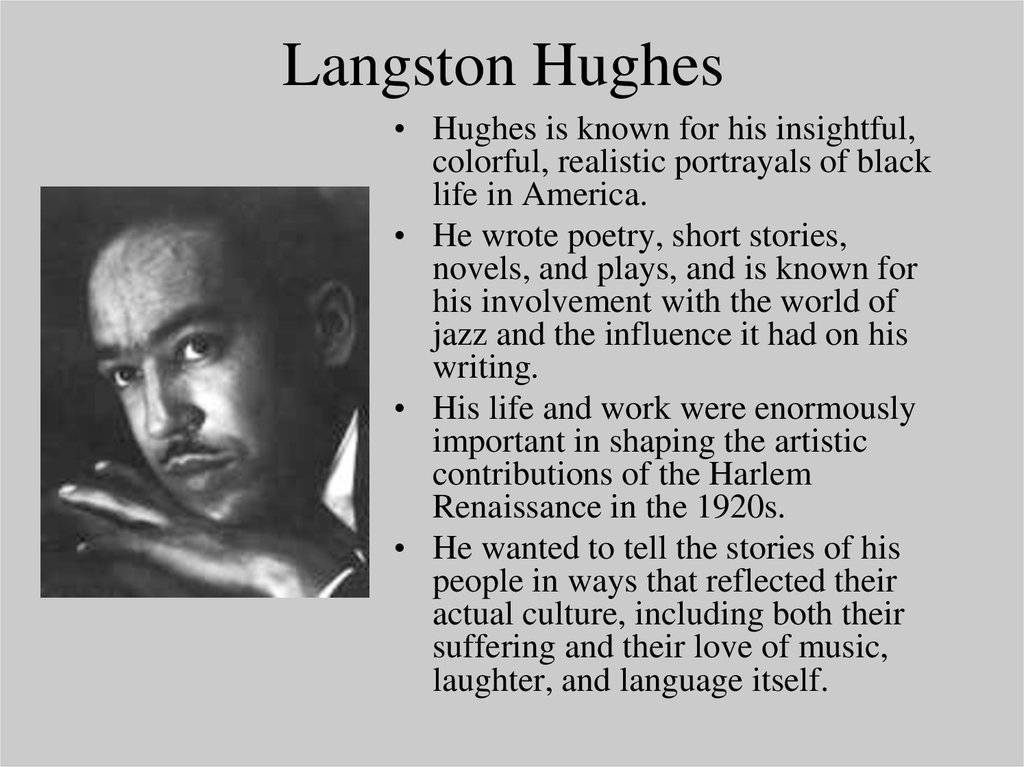 langston hughes an american poet essay