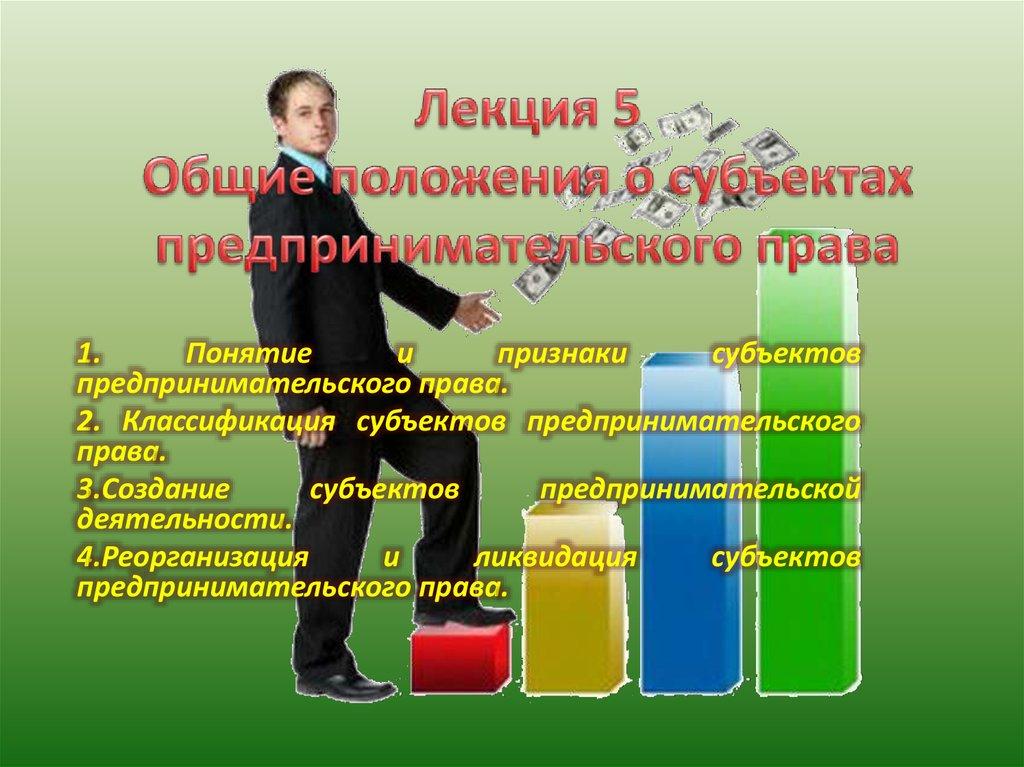 Реорганизация и ликвидация субъектов предпринимательского права