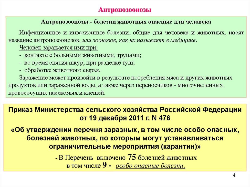 Приказ минсельхоза 476 от 19. 12. 2011.
