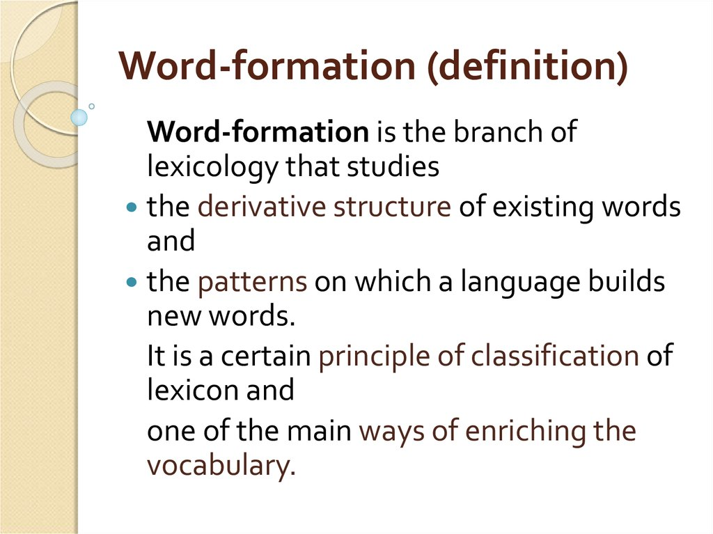 Word-formation (definition)