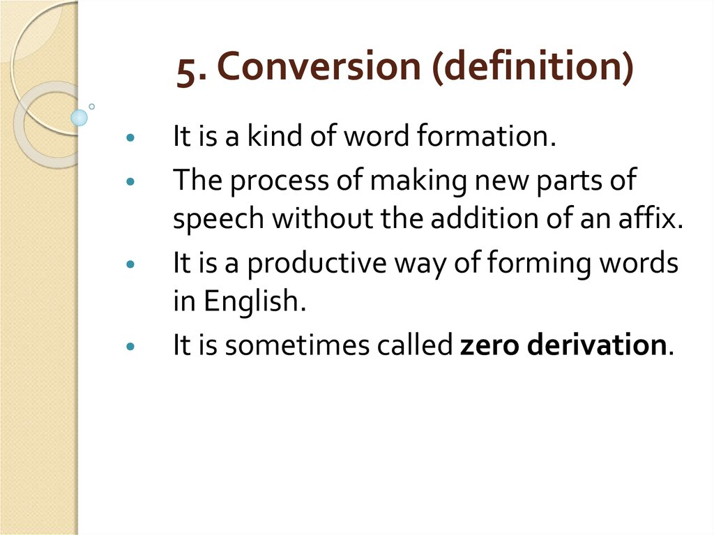 5. Conversion (definition)