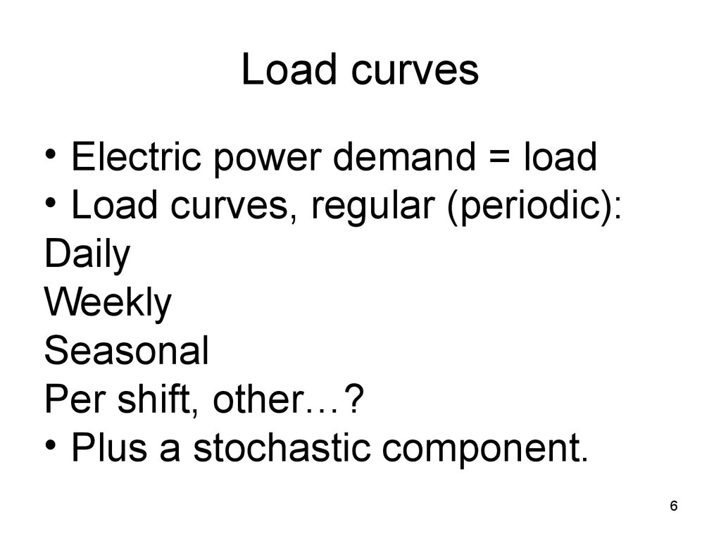 Load curves