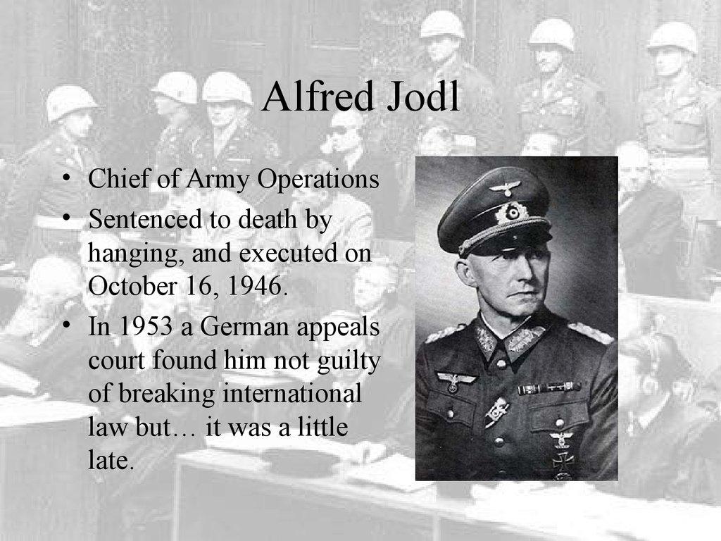 Nuremberg War Crime Trials - online presentation