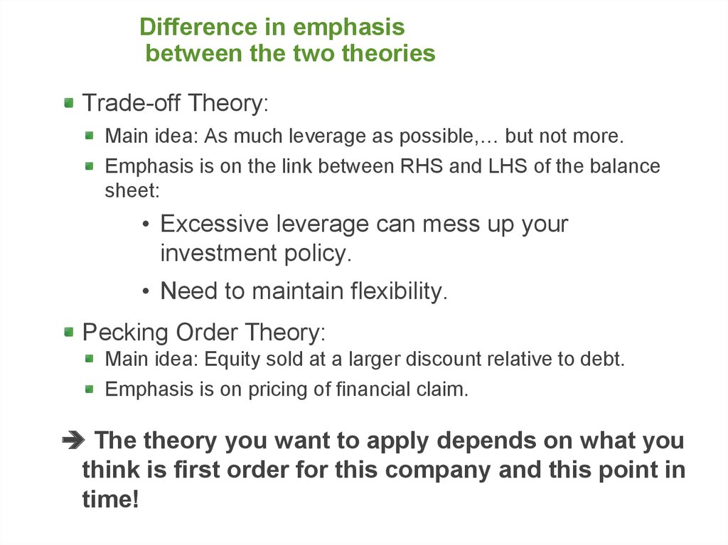 trade off pecking order essay Read this essay on speed accuracy trade-off trade-off theory and more attention to other theories such as dynamic trade-off theory, pecking order theory and.