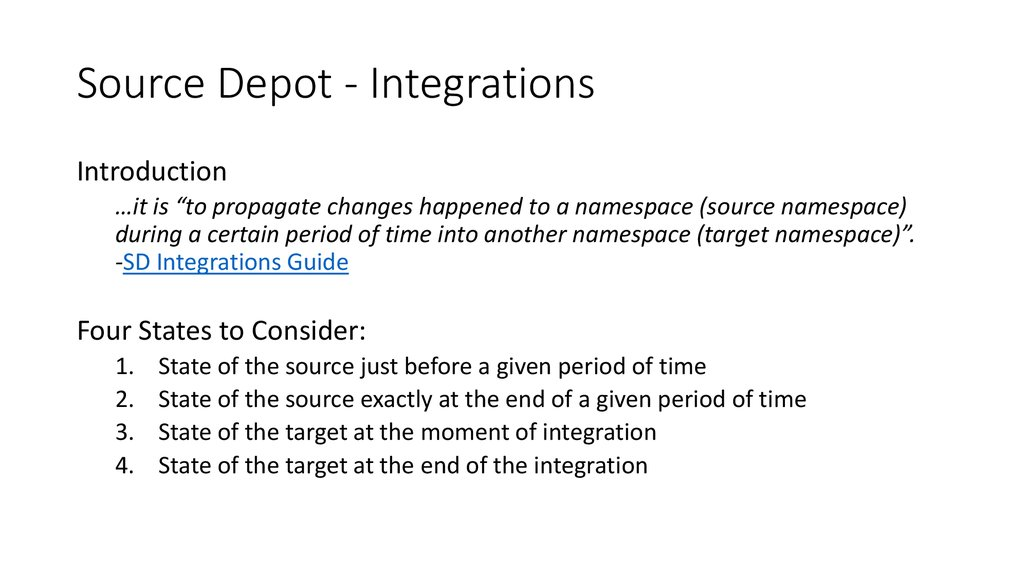 Source Depot - Integrations