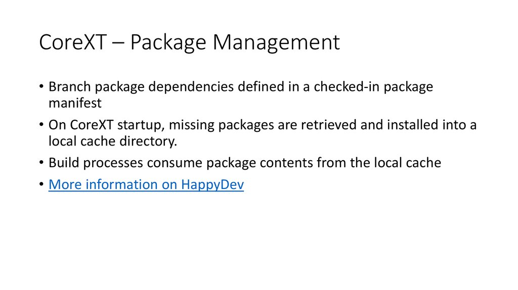 CoreXT – Package Management
