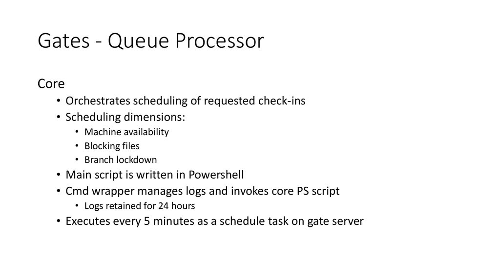 Gates - Queue Processor