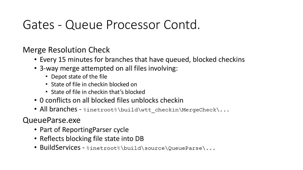 Gates - Queue Processor Contd.