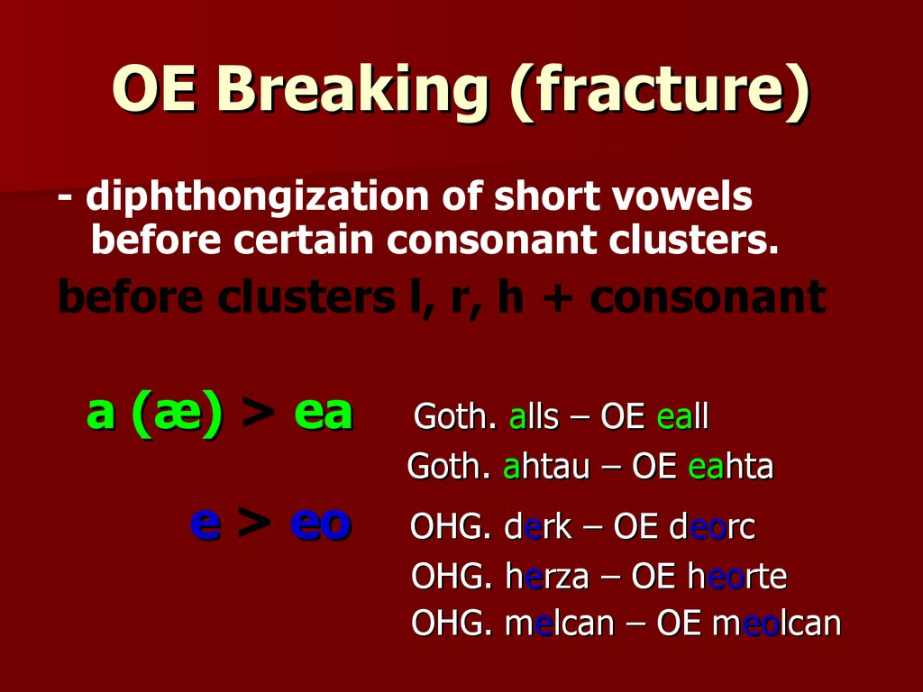 OE Breaking (fracture)