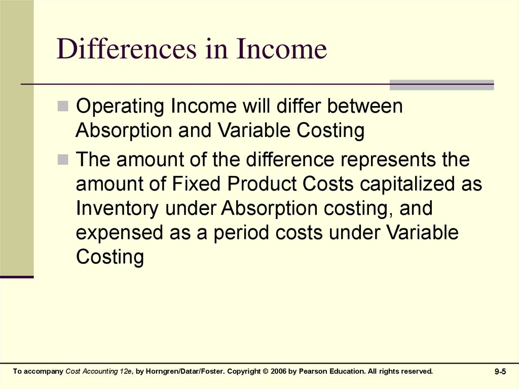 Differences in Income