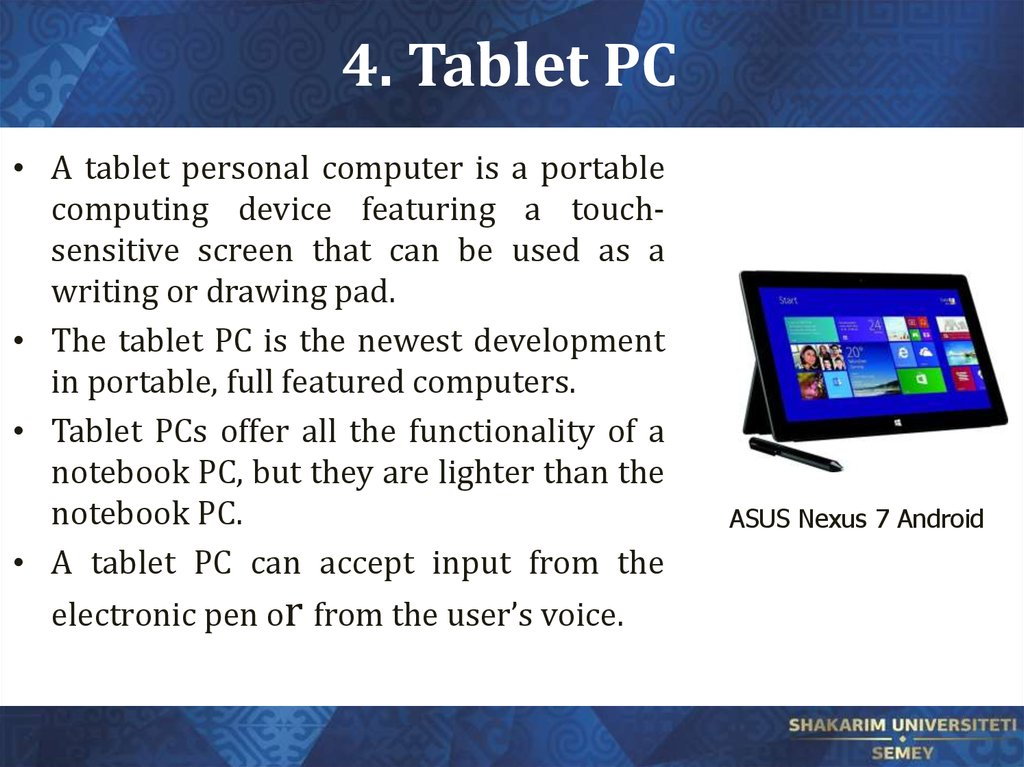 4. Tablet PC