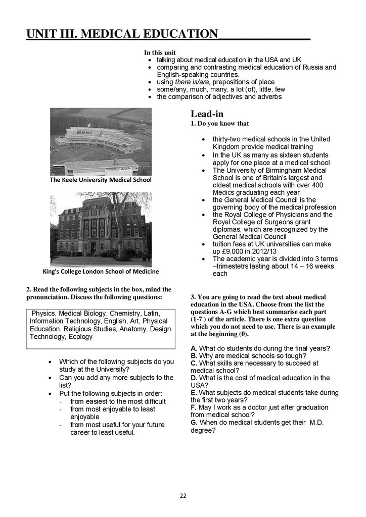 Essential english for medical students  Part 1 - презентация онлайн