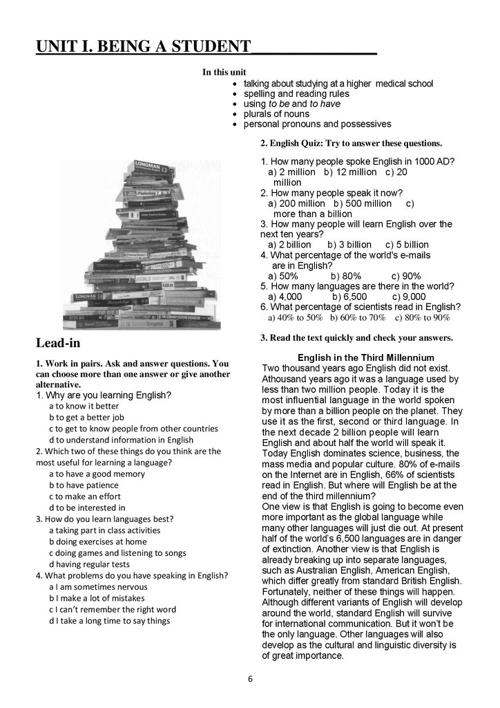 Essential english for medical students  Part 1 - online