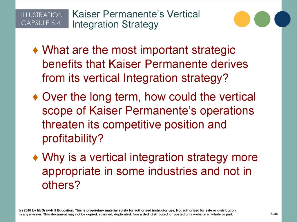 Kaiser Permanente's Vertical Integration Strategy