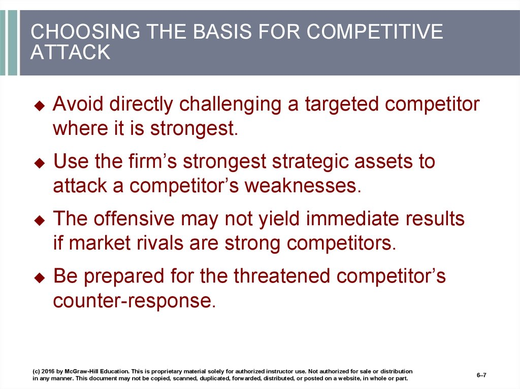 CHOOSING THE BASIS FOR COMPETITIVE ATTACK