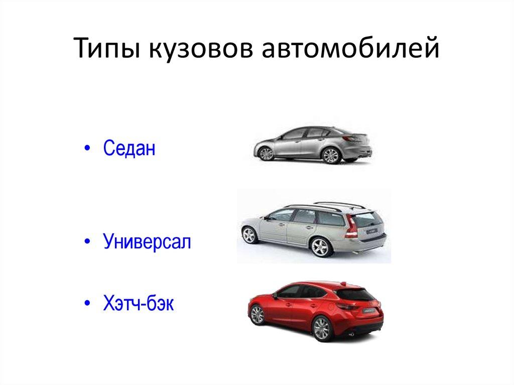 Типы кузовов легковых автомобилей с фото