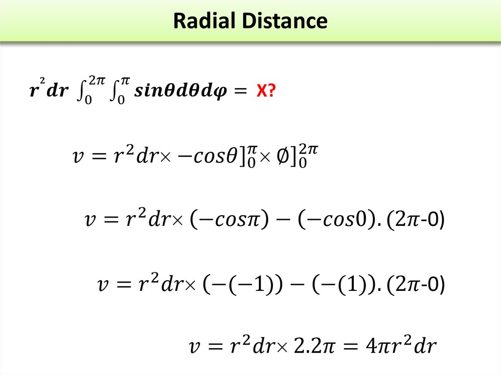 Radial Distance