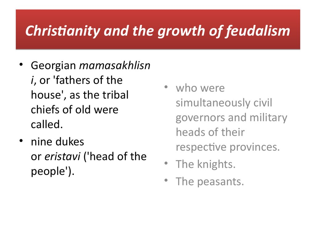 the history of the growth of feudalism